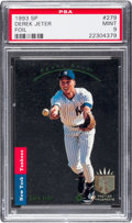 Baseball Cards:Singles (1970-Now), 1993 SP Derek Jeter, Foil Rookie #279 PSA Mint 9....