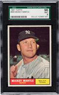 Baseball Cards:Singles (1960-1969), 1961 Topps Mickey Mantle #300 SGC 96 Mint 9 - Pop Two, None Higher!...