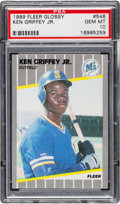 Baseball Cards:Singles (1970-Now), 1989 Fleer Glossy Ken Griffey Jr. #548 PSA Gem Mint 10....