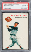Baseball Cards:Singles (1950-1959), 1954 Wilson Franks Ted Williams PSA EX-MT 6....