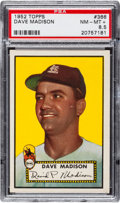Baseball Cards:Singles (1950-1959), 1952 Topps Dave Madison #366 PSA NM-MT+ 8.5 - Pop Four, One Higher! ...