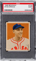 Baseball Cards:Singles (1940-1949), 1949 Bowman Stan Spence #102 PSA Mint 9 - None Higher! ...