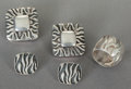 Silver Smalls:Other , TWO PAIRS OF EMILIA CASTILLO MEXICAN SILVER EARRINGS AND A RING.Emilia Castillo, Taxco, Mexico, circa 1950. Marks: EMILIA...(Total: 5 Items)