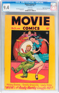 Golden Age (1938-1955):Adventure, Movie Comics #3 Mile High pedigree (Fiction House, 1947) CGC NM 9.4 White pages....