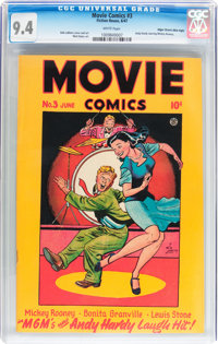 Movie Comics #3 Mile High pedigree (Fiction House, 1947) CGC NM 9.4 White pages