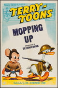 "Movie Posters:Animation, Mopping Up (20th Century Fox, 1943). Terry Toons One Sheet (27"" X41""). Animation.. ..."