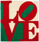 ROBERT INDIANA (American, b. 1928) Chosen Love (Red, Green, White) Wool 120 x 120 inches (304.8 x 304.8 cm) Ed. 41/1