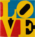 Post-War & Contemporary:Pop, ROBERT INDIANA (American, b. 1928). Chosen Love (Umbridge).Wool. 96 x 96 inches (243.8 x 243.8 cm). Ed. 14/175. Signed ...