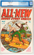 Golden Age (1938-1955):War, All New Comics #3 Mile High pedigree (Family Comics, 1943) CGC NM+ 9.6 White pages....