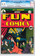 Golden Age (1938-1955):Superhero, More Fun Comics #75 (DC, 1942) CGC NM- 9.2 Off-white to white pages....