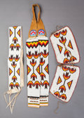 American Indian Art:Beadwork and Quillwork, THREE SOUTHERN PLAINS BEADED ITEMS... (Total: 3 )