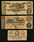 Confederate Notes:1863 Issues, Three Confederate Notes 1863-64.. ... (Total: 3 notes)