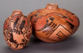 American Indian Art:Pottery, TWO HOPI POLYCHROME JARS. Carla Nampeyo... (Total: 2 )