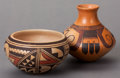 American Indian Art:Pottery, TWO HOPI POLYCHROME JARS. Ethel Youvella and White Swan... (Total:2 )
