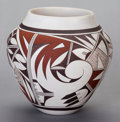 American Indian Art:Pottery, A HOPI POLYCHROME JAR . Joy Navasie (Frog Woman)...