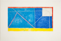 RICHARD DIEBENKORN (American, 1922-1993) Red-Yellow-Blue, 1986 Etching, aquatint and drypoint in col