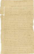 Autographs:Military Figures, Revolutionary War Letter From James Van Wagenen to General Sir Henry Clinton. ...
