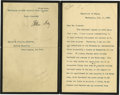 """Autographs:Statesmen, Secretary of State John Hay Typed Letter Signed, just over one page, 5"""" x 7.5"""", Washington, D.C., July 11, 1902, to Robert J..."""