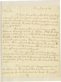 "Autographs:Statesmen, Daniel D. Tompkins as Governor of New York Autograph Letter Signed,two pages with address panel, 7.5"" x 9.5"", Albany, New Y..."
