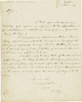 "Autographs:Statesmen, Francis Scott Key Autograph Letter Signed, ""F S Key"", onepage with address panel on verso, 8"" x 10"", Washington, D. C.,..."