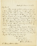 "Autographs:Statesmen, William H. Seward Autograph Letter Signed ""William H.Seward,"" one page, 7.75"" x 9.75"". Washington, December 28,1851. T..."