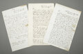 Miscellaneous:Ephemera, Archive of Documents Regarding Charges Made By Santee SiouxIndians, 1868.... (Total: 3 Items)