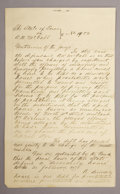Western Expansion:Cowboy, TEXAS BROTHEL ARREST WARRANT - NAVARRO COUNTY, TEXAS 1890 - Alengthy Texas house of ill-repute manuscript; The State of Te...