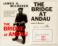 Books:Literature 1900-up, James A. Michener. SIGNED Bookplate. The Bridge at Andau.New York: Random House, [1957]. First edition. Octavo. Pub...