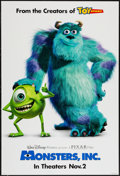 "Movie Posters:Animation, Monsters, Inc. (Buena Vista, 2001). One Sheet (27"" X 41"") DSAdvance. Animation.. ..."