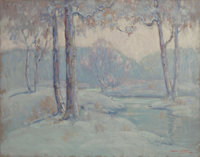 DAWSON DAWSON-WATSON (British/American, 1864-1939) Quiet Winter Afternoon, 1928 Oil on canvas 22