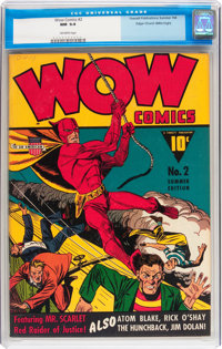 Wow Comics #2 Mile High pedigree (Fawcett, 1941) CGC NM 9.4 Off-white pages
