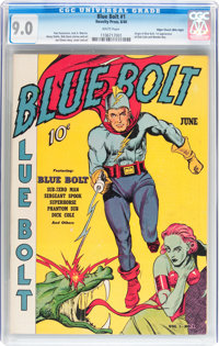 Blue Bolt #1 Mile High pedigree (Novelty Press, 1940) CGC VF/NM 9.0 White pages