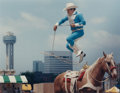 Photographs, DAVID WOO; DAVID LEESON and PAULA NELSON. Downtown Dallas; Stockyard Parade; Longhorns on the Trinity (group of 3)... (Total: 3 Items)