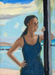 ALEX KATZ (American, b. 1927) Ada at Tortola, 1974 Oil on masonite 12 x 9 inches (30.5 x 22.9 cm) Signature etched i