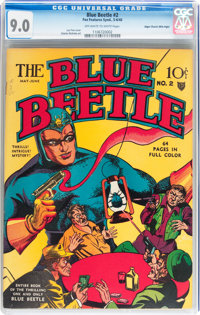 Blue Beetle #2 Mile High pedigree (Fox Features Syndicate, 1940) CGC VF/NM 9.0 Off-white to white pages