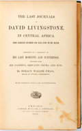 Books:Travels & Voyages, David Livingstone. The Last Journals of David Livingstone, In Central Africa. Chicago: Jansen, McClurg, and Co., 187...