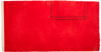 ROBERT MOTHERWELL (American, 1915-1991) Red Open with White Line, 1979 Aquatint in colors 18 x 35