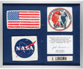 Explorers:Space Exploration, Skylab II (SL-3) Flown and Worn Full Set of Four Inflight Jacket Patches Directly from the Personal Collection of Mission Pilo...