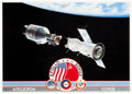 Explorers:Space Exploration, Apollo-Soyuz Test Project: Limited Edition Lithograph Signed byFour....