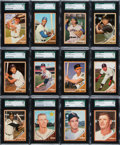 Baseball Cards:Lots, 1962 Topps Baseball SGC Graded Collection (60). ...