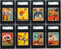 Football Cards:Sets, 1935 National Chicle Football SGC Graded Partial Set (17) With Nagurski. ...