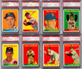 "Baseball Cards:Sets, 1958 Topps Baseball ""Yellow Letter"" Variations (10+ 4 White) WithMany PSA 8s...."