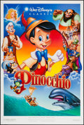"""Movie Posters:Animation, Pinocchio (Buena Vista, R-1984/R-1992). One Sheets (3) (27"""" X 41"""", 27"""" X 40"""") SS Regular, Style A, & DS Style B. Animation.... (Total: 3 Items)"""