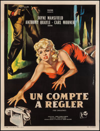 """The Challenge (Rank, 1960). French Grande (46"""" X 61""""). Crime"""