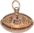 Football Collectibles:Others, 1941 Bruce Smith Minnesota Golden Gophers National Championship Gold Pendant - From Heisman Winning Season!...