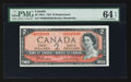 Canadian Currency: , BC-38bA $2 1954 Replacement Note *B/B Prefix. ...