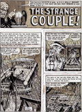 """Original Comic Art:Complete Story, Bill Elder Three Dimensional Tales From the Crypt of Terror Complete 8-Page Story """"The Strange Couple!"""" Original A..."""