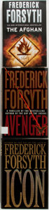Books:Mystery & Detective Fiction, Frederick Forsyth. Group of Three Books. Various publishers,1996-2006. Avenger is a first edition. Avenger andIc... (Total: 3 Items)