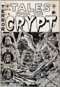 "Original Comic Art:Covers, Charles Dallas Nickel Library Series #52 ""Tales From theCrypt #47 Cover"" Original Art (San Francisco ..."