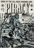 "Original Comic Art:Covers, Larry Todd Nickel Library Series ""Piracy #8 Cover"" OriginalArt (Gary Arlington, 1973)...."